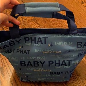 Baby phat mini tote bag in vynil
